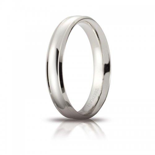 Unoaerre Orion Wedding Ring White Gold Brilliant Promises