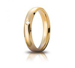 Unoaerre Orion Wedding Ring Yellow gold with diamond Brilliant Promesse