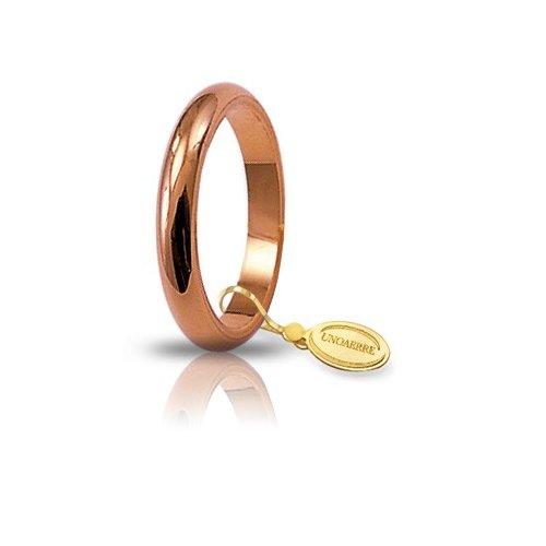Unoaerre Wedding Ring Rose Gold Francesina narrow band 4 grams