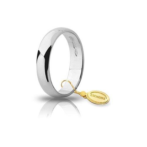 Unoaerre Wedding Ring White Gold Wide 4 grams