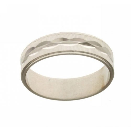Ring in 18 kt white gold model Onda satin