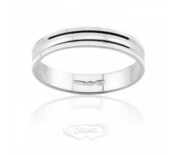 Diana ring in 18 kt polished white gold FD215L3OB