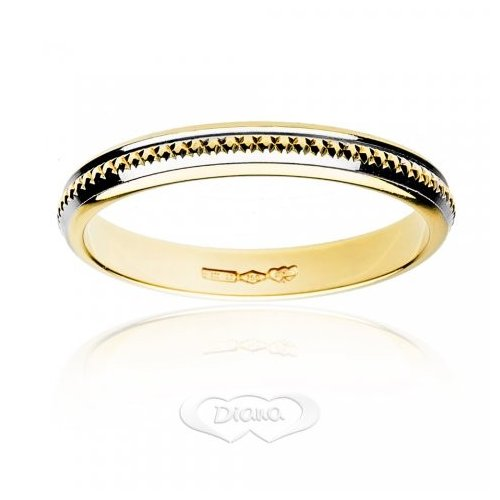 Diana ring in 18 kt white and yellow gold FD7N3BC