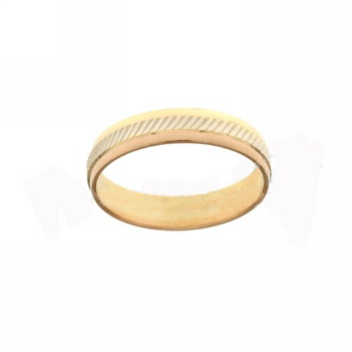 18 kt white and yellow gold band diagonal model