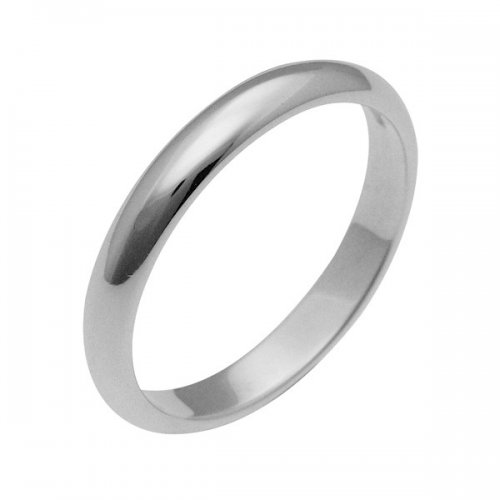 Platinum wedding ring, French model 3 grams