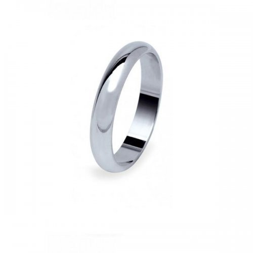 Platinum wedding band classic model 5 grams