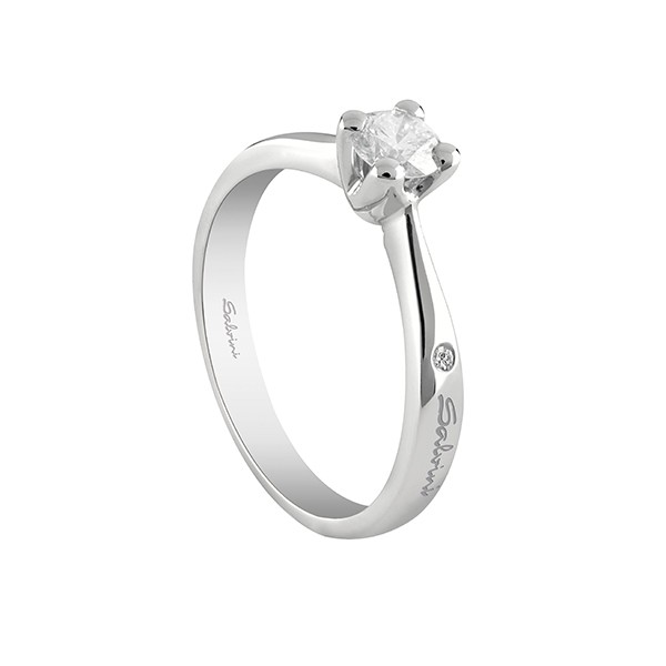 arriva bel design negozio online Anello solitario Salvini oro bianco Diamante 0,40 ct Virginia 20067675 -  GioielleriaLucchese.it