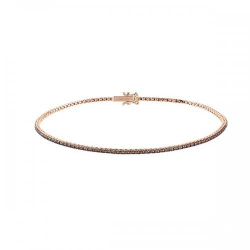 Salvini Tennis Bracelet Pink Gold Black Diamonds Ref. 20068976