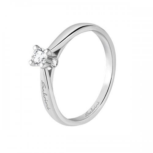 Anello solitario Salvini Oro Bianco Diamanti Ref. 20067040