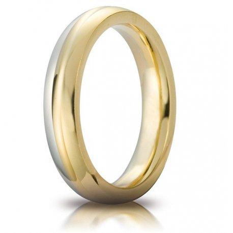 Unoaerre wedding ring model Eclissi Oro bicolor