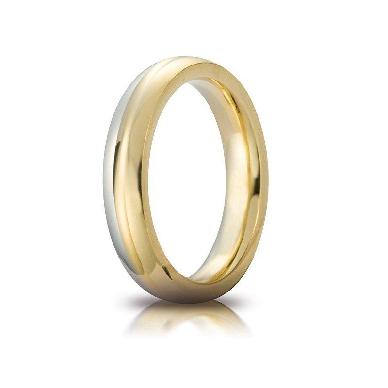 Fedi Matrimonio Uomo : Fede nuziale unoaerre modello eclissi oro bicolore