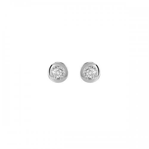 Orecchini punto luce Salvini Oro bianco Diamanti 20068985