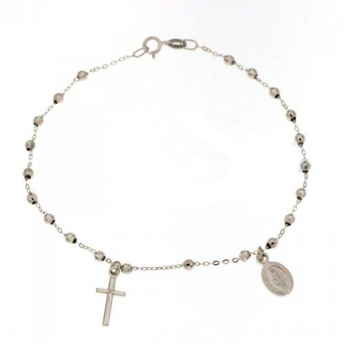 Bracciale Rosario Oro Bianco Madonna Miracolosa 803321713241