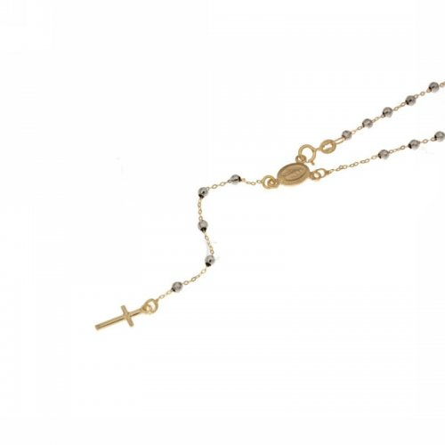 Collana Rosario Oro Bianco Giallo Madonna Miracolosa 803321716858