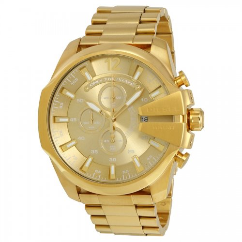 Golden Mega Chief men's Diesel watch DZ4360