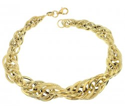 Yellow gold women's bracelet 803321729084