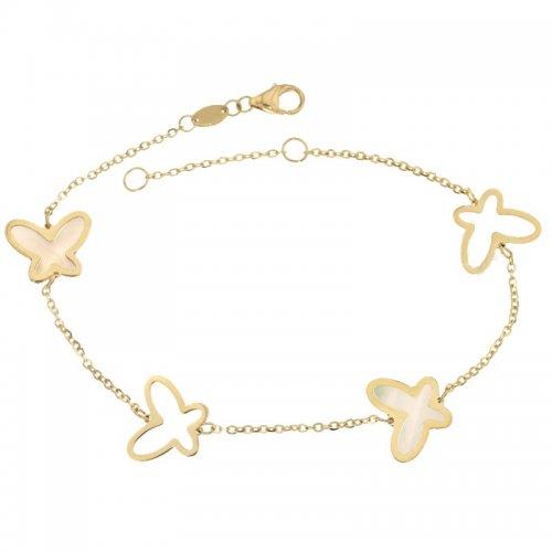Yellow gold butterfly bracelet for women 803321733399