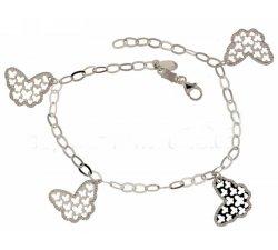 Women's bracelet in white gold butterflies 803321728217
