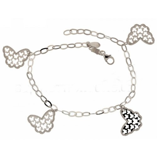 Women's bracelet in white gold butterflies 803321728217
