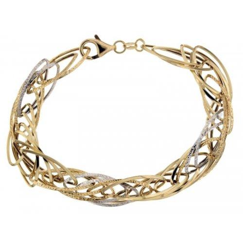 Yellow and white gold women's bracelet 803321730995