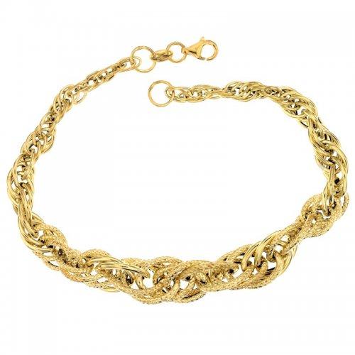 Yellow gold women's bracelet 803321729083
