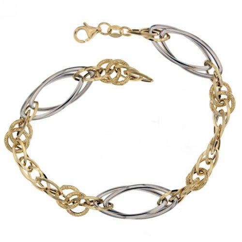 Yellow and white gold women's bracelet 803321712454