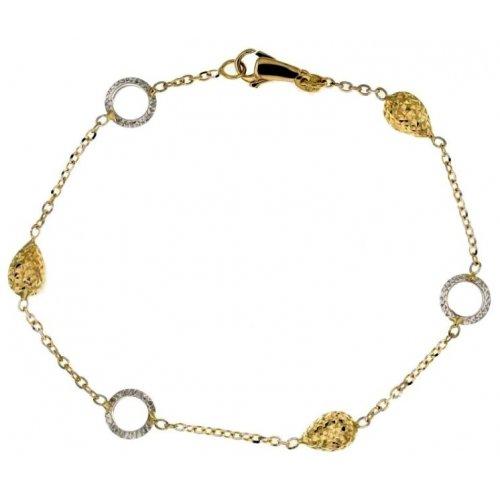 Yellow and white gold women's bracelet 803321724451