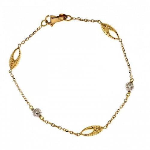 Bracciale donna in oro giallo e bianco 803321724455