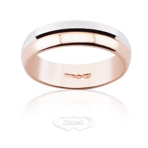 Wedding Ring Diana White and Rose Gold FDB4M6 RB