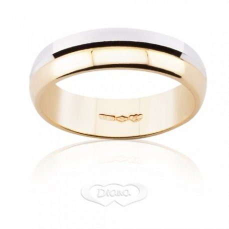 Diana Wedding Ring White and Yellow Gold FDB4M6 BC