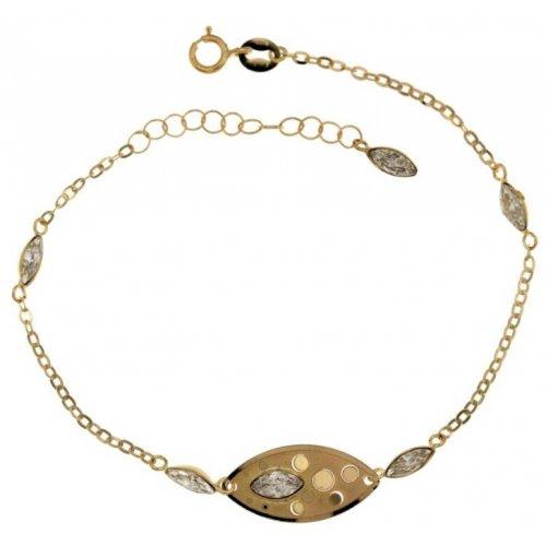 Yellow gold women's bracelet 803321702021