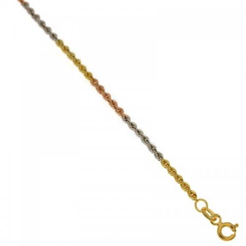 Bracciale donna in oro tre colori 803321703120