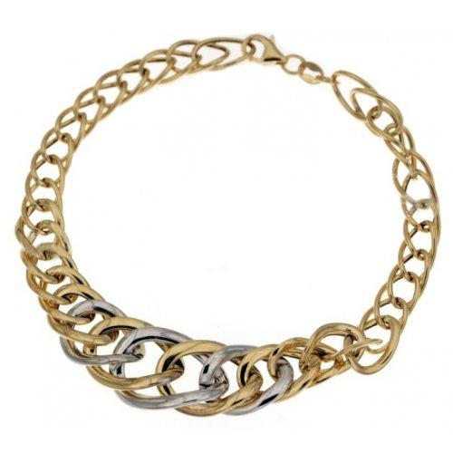 Yellow and white gold women's bracelet 803321719128