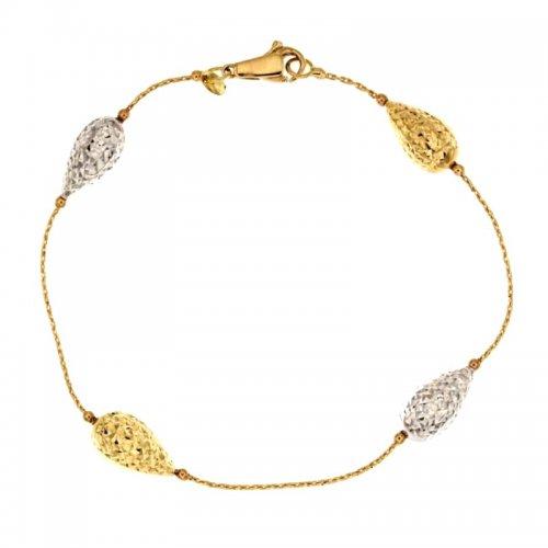 Bracciale donna in oro giallo e bianco 803321706430