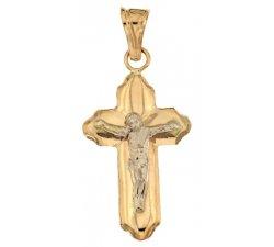 Yellow and White Gold Men's Cross 803321728872