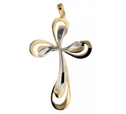 Women's Cross in Yellow and White Gold 803321725399