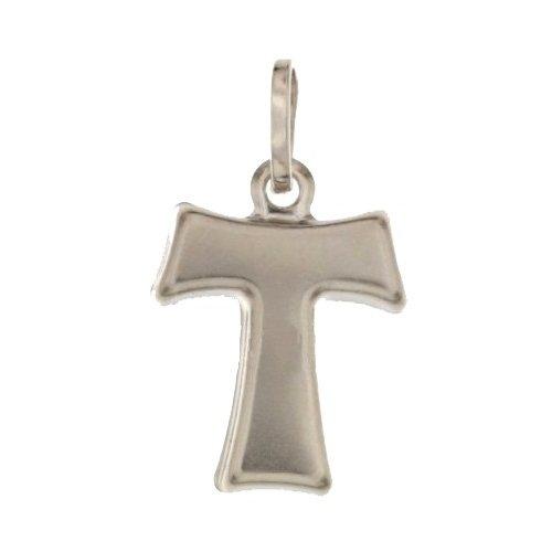 Croce tau in Oro Bianco 803321706930