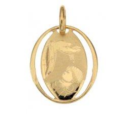 Medaglia Ciondolo da Battesimo Oro Giallo 803321714869