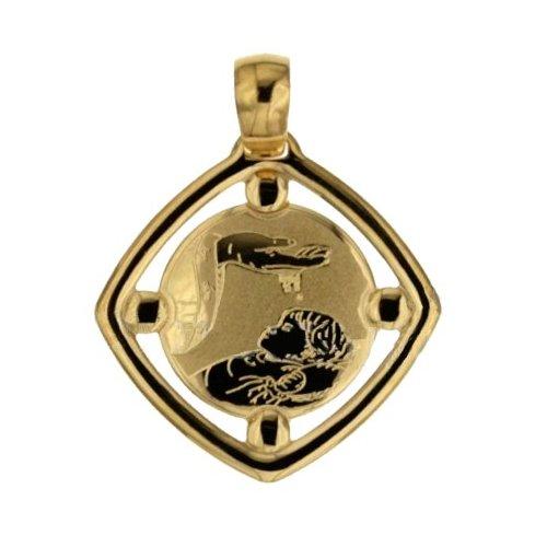 Medaglia Ciondolo da Battesimo Oro Giallo 803321714896
