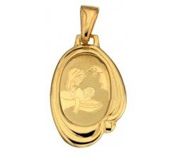 Medaglia Ciondolo da Battesimo Oro Giallo 803321714962