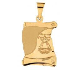 Medaglia Ciondolo da Battesimo Oro Giallo 803321734476