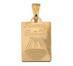 Medaglia Ciondolo da Battesimo Oro Giallo 803321730869