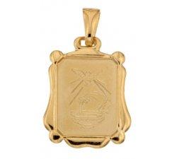 Yellow Gold Baptism Medal Pendant 803321730871