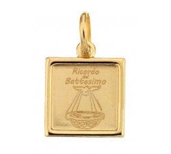 Medaglia Ciondolo da Battesimo Oro Giallo 803321734467