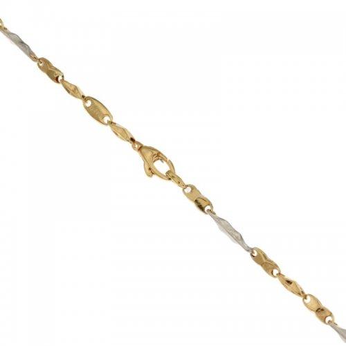 Bracciale Uomo in Oro Giallo e Bianco 803321713179