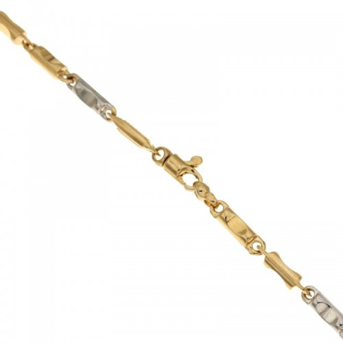 Men's Bracelet in Yellow and White Gold 803321717276