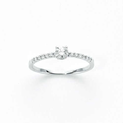 Yukiko solitaire woman ring in 750 gold LID2311Y_005S