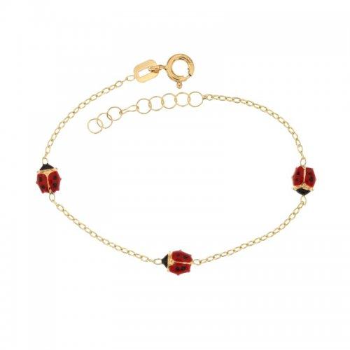 Yellow gold girl's bracelet 803321721738