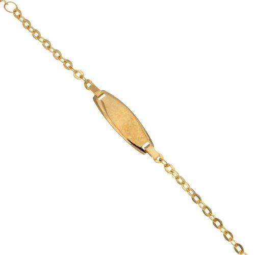 Yellow gold children's bracelet 803321710929