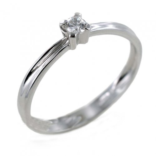 Solitaire Ring White Gold Woman 27513365123